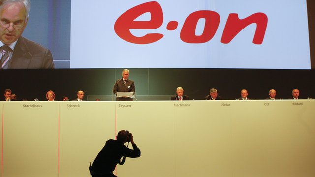 CEO Teyssen of EON during the annual shareholders meeting in Essen