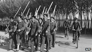 "Picture dated 12 June 1986, shows the ""Re-education through labour"" camp of Tuanhe near Beijing."