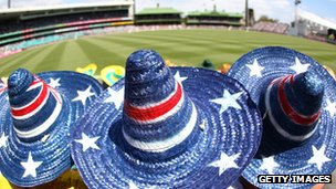File photo: Australian fans at a cricket match in Sydney, 3 January 2013