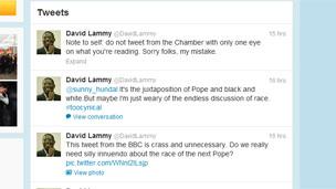 David Lammy's Twitter feed