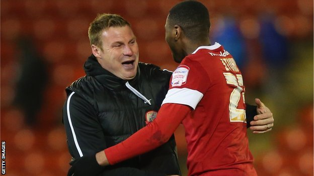 David Flitcroft and Kelvin Etuhu