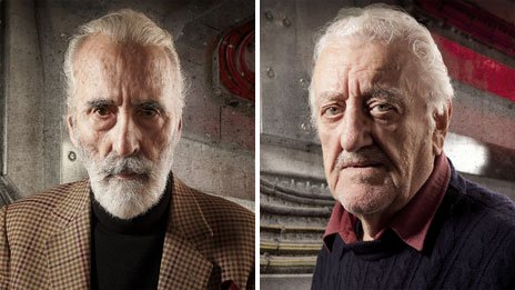 Sir Christopher Lee and Bernard Cribbins