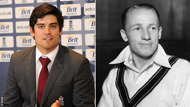 Alastair Cook & Don Bradman