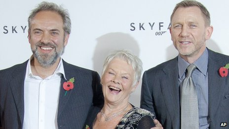 Sam Mendes, Judi Dench and Daniel Craig