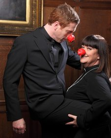Damien Lewis and Dawn French
