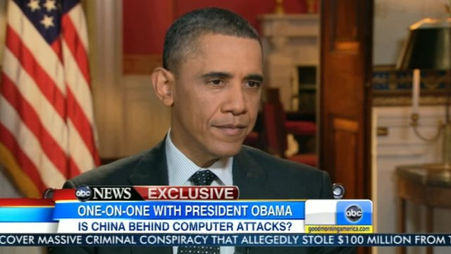 President Barack Obama speaks to ABC News