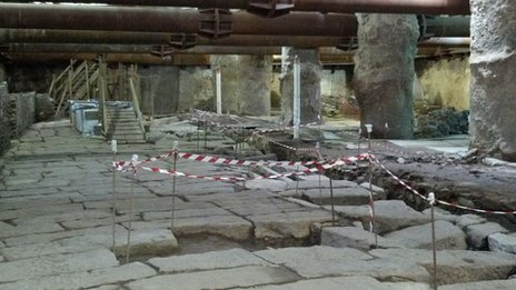Roman ruins discovered beneath Thessaloniki