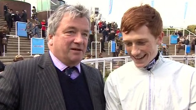Trainer Nigel Twiston-Davies and jockey son Sam