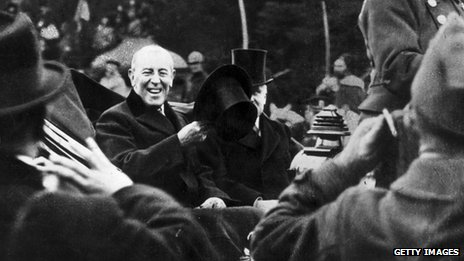 Woodrow Wilson in Paris in 1919