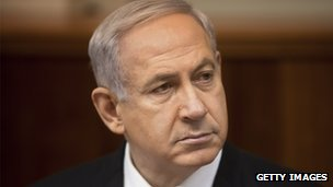 Israeli Prime Minister Benjamin Netanyahu chairs the weekly cabinet meeting in Jerusalem on March 10, 2013