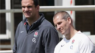 Martin Johnson (left) and Stuart Lancaster