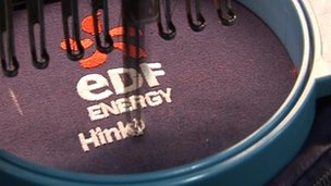 EDF Uniforms being stitched