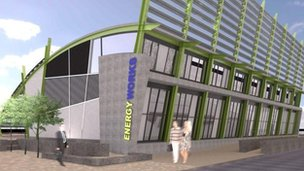 Artist impression of the Energy Works