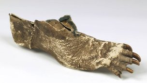Witch doctor shoe from the Congo.