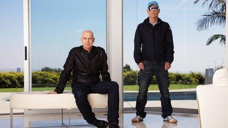 Pet Shop Boys, aka Neil Tennant and Chris Lowe