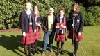 Doug Allan with the St Mary Erskine School Reporters