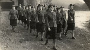 Women on the march in World War II