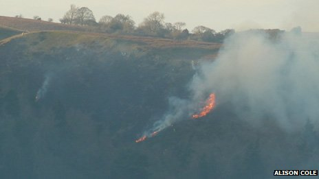Gorse fire on Long Mynd