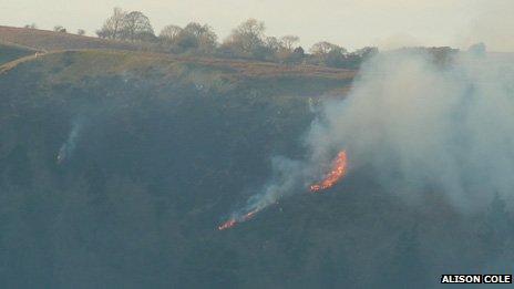 Gorse fire on Long Mynd