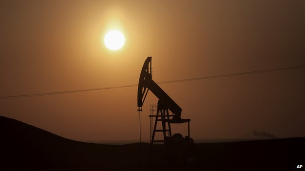 An oil well in Iraq's autonomous Kurdish region