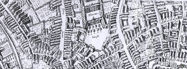 1658 map of London