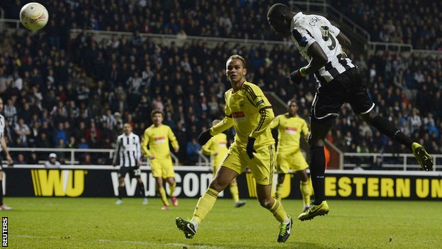 Papiss Cisse heads in the winner