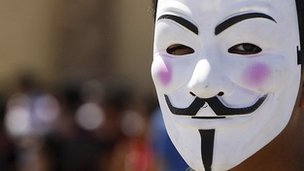 Guy Fawkes mask (file image)