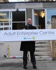 Matt Atkinson outside the Bath Adult Enterprise Centre