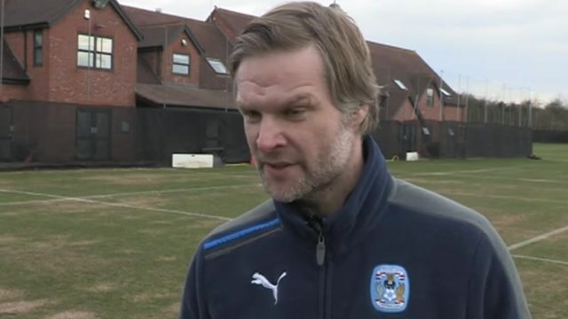 Coventry manager Steven Pressley