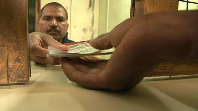 Indian bank counter
