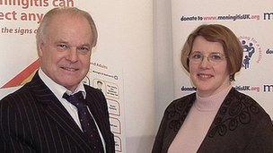 Meningitis UK Founder Steve Dayman and Meningitis Trust Chief Executive Sue Davie