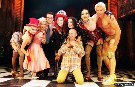 Rocky Horror Show cast with Richard O'Brien