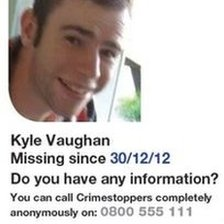 Gwent Police poster of Kyle Vaughan