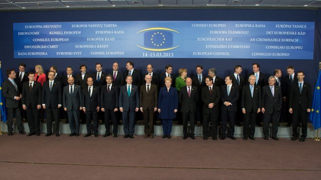 The EU leaders gathered for a photograph