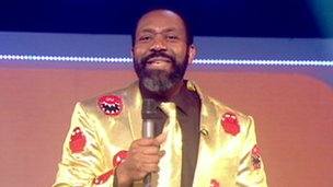 Lenny Henry at the start of Comic Relief