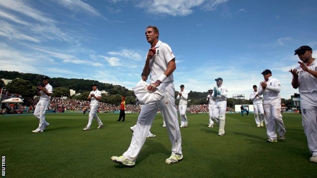 Stuart Broad and the England team