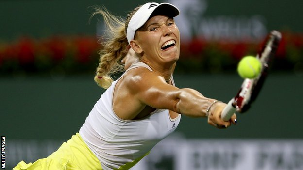 Caroline Wozniacki in Indian Wells