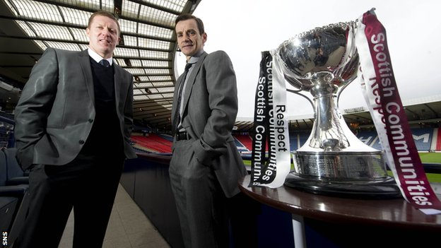 Hearts manager Gary Locke and St Mirren boss Danny Lennon