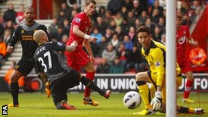 Morgan Schneiderlin scores for Southampton