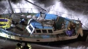 The boat in the gale