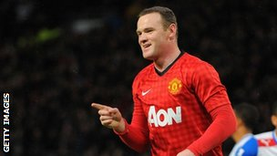 Wayne Rooney celebrates scoring