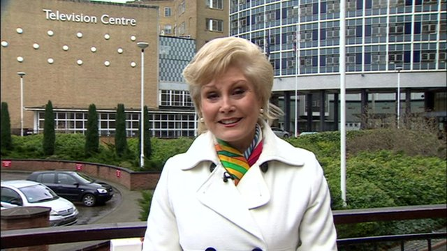 Angela Rippon at BBC TV Centre
