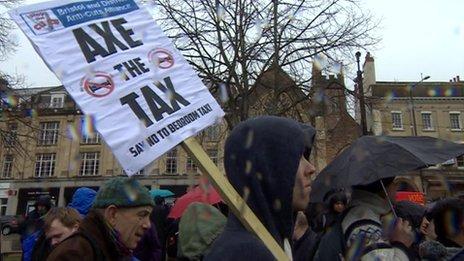 Welfare reform protesters in Bristol