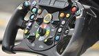 A Lotus steering wheel