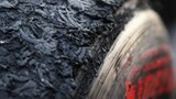 A worn F1 tyre