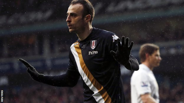 Fulham striker Dimitar Berbatov does not celebrate after his winner at Tottenham
