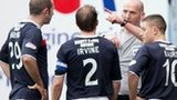 Dundee lost skipper Gary Irvine to a first-half red card