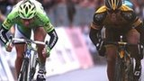 Gerald Ciolek beats Peter Sagan in a sprint finish