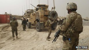 US soldiers in Afghanistan. File photo
