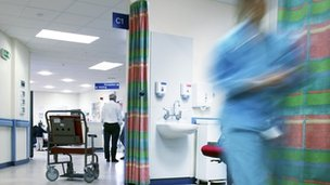 Medic on hospital ward